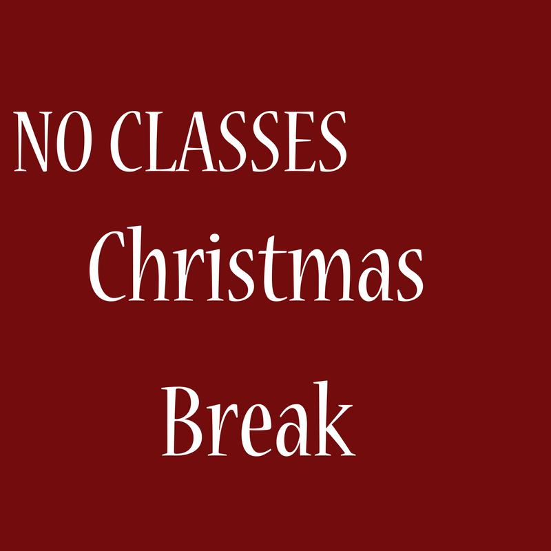 No Classes Christmas Break Dearmon Creative Arts School Theater