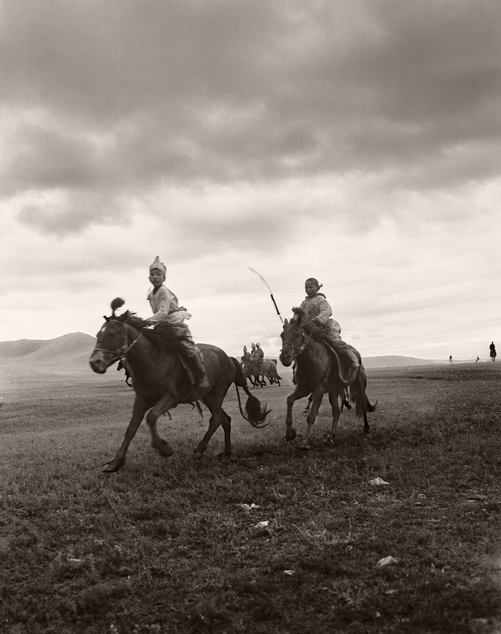 KIDS IN MONGOLIA ON HORSES