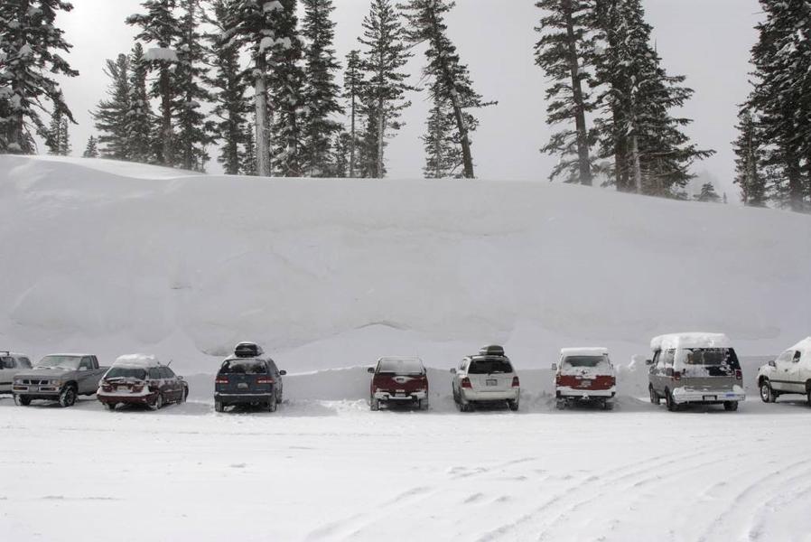 Huuuuge snowbank!