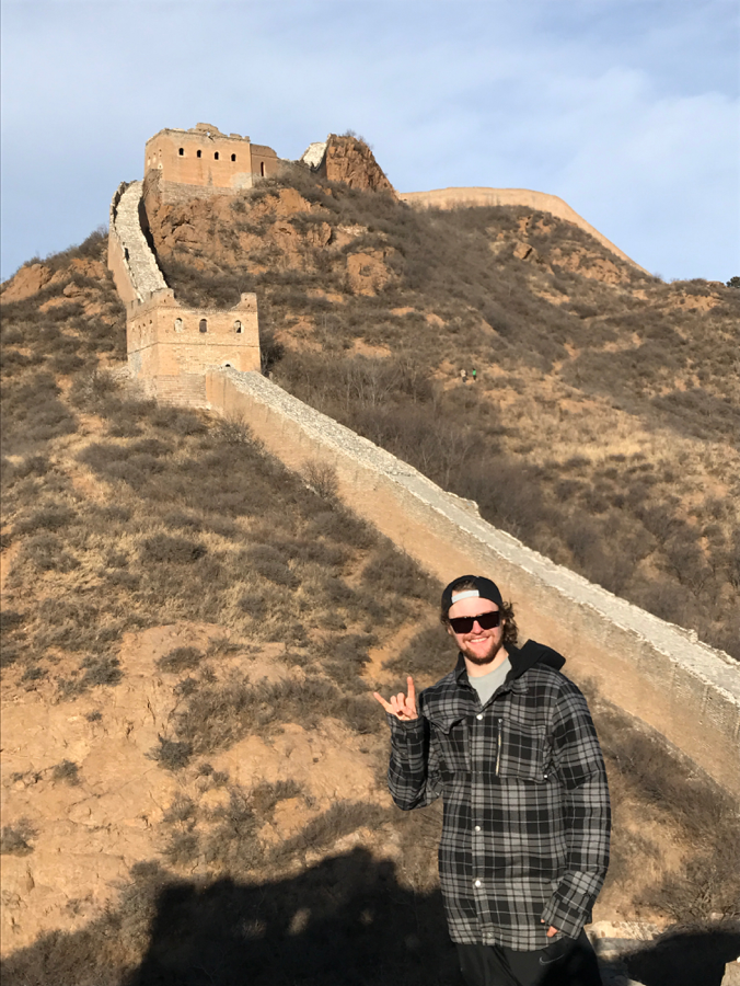 Enjoying the first sights of the wall!