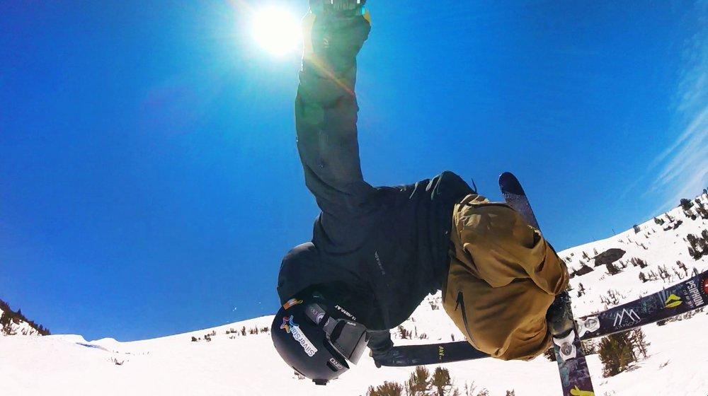 Selfie flying through the air!
