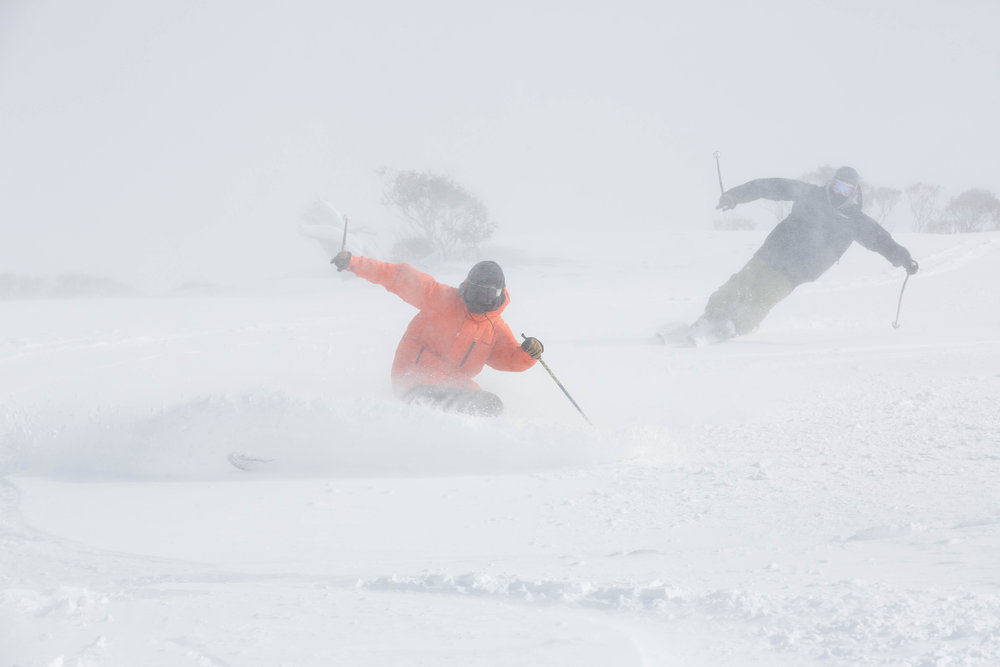 Carving in the fog with Klaus!