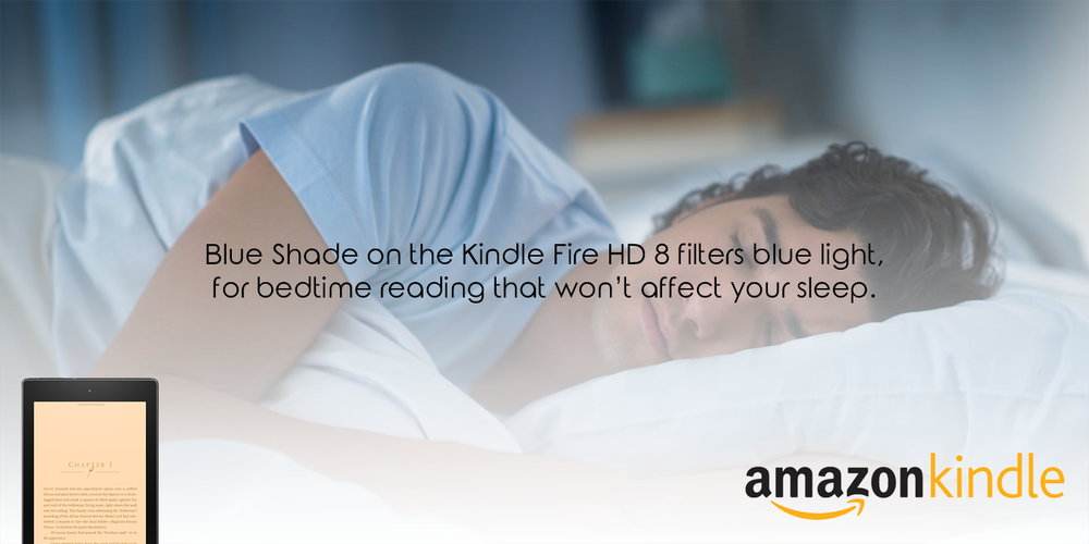 Blue Shade on the Fire HD 8.