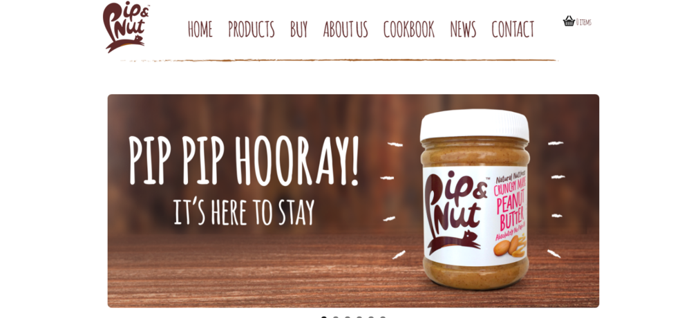 Pipping other nut butters to the punch with catchy homepage copy.