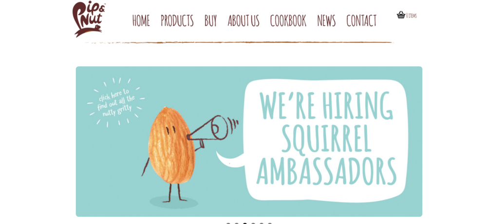 Personality + consistently clever puns = winning copywriting.