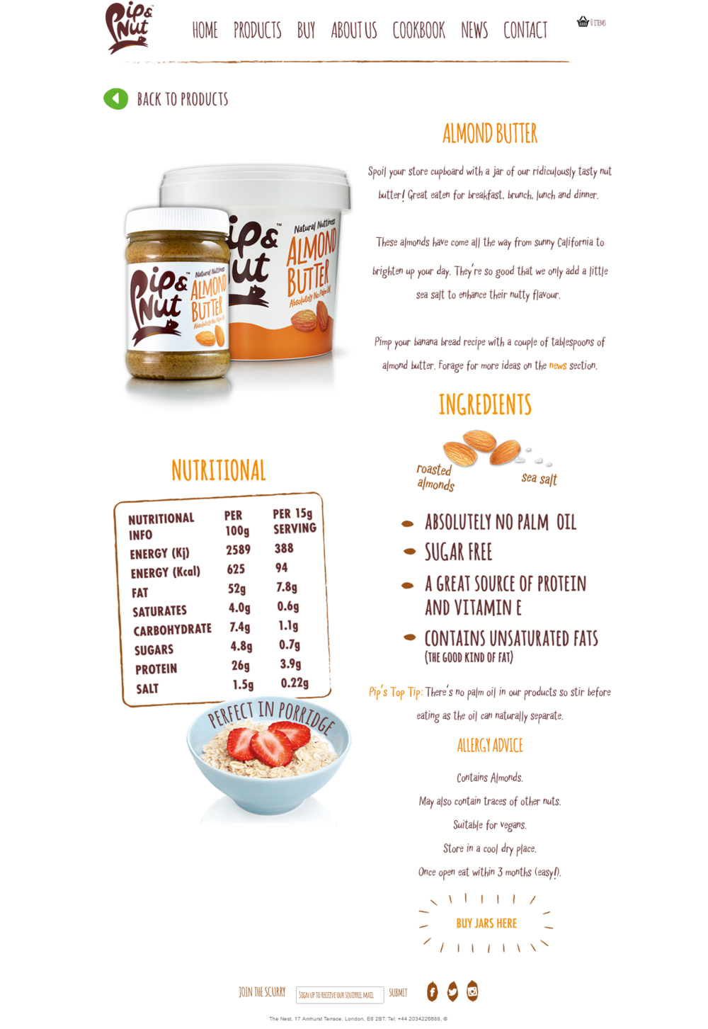 Pip & Nut will sell you almond butter the way only Pip & Nut can.