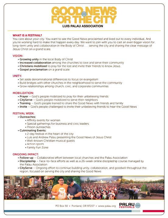 Festival Fact Sheet