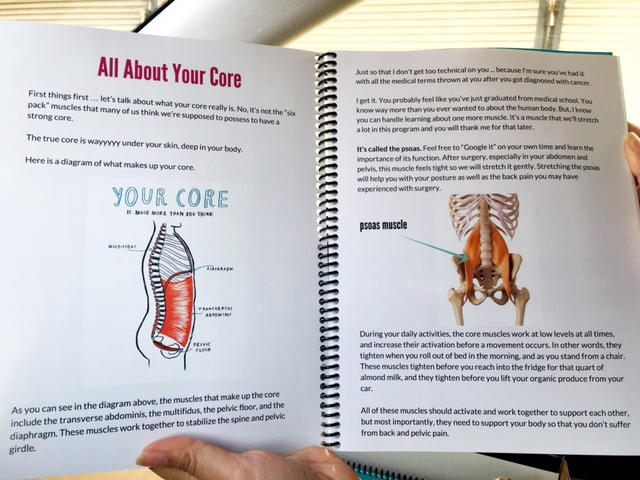 The inside of my book, Cancer Core Recovery: A Survivor's Guide, now available for purchase!