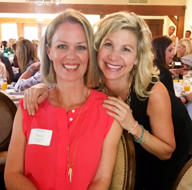 Here I am with my good friend Tracy from junior high! We reconnected after many years when she brought me in to speak for the Queen of Hearts Foundation breakfast fundraiser.