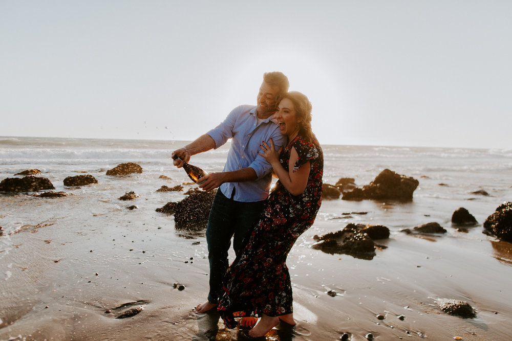 El Matador Beach Malibu Engagement Photographer | Malibu Wedding Photographer | Los Angeles Wedding Photographer | Tida Svy | www.tidasvy.com