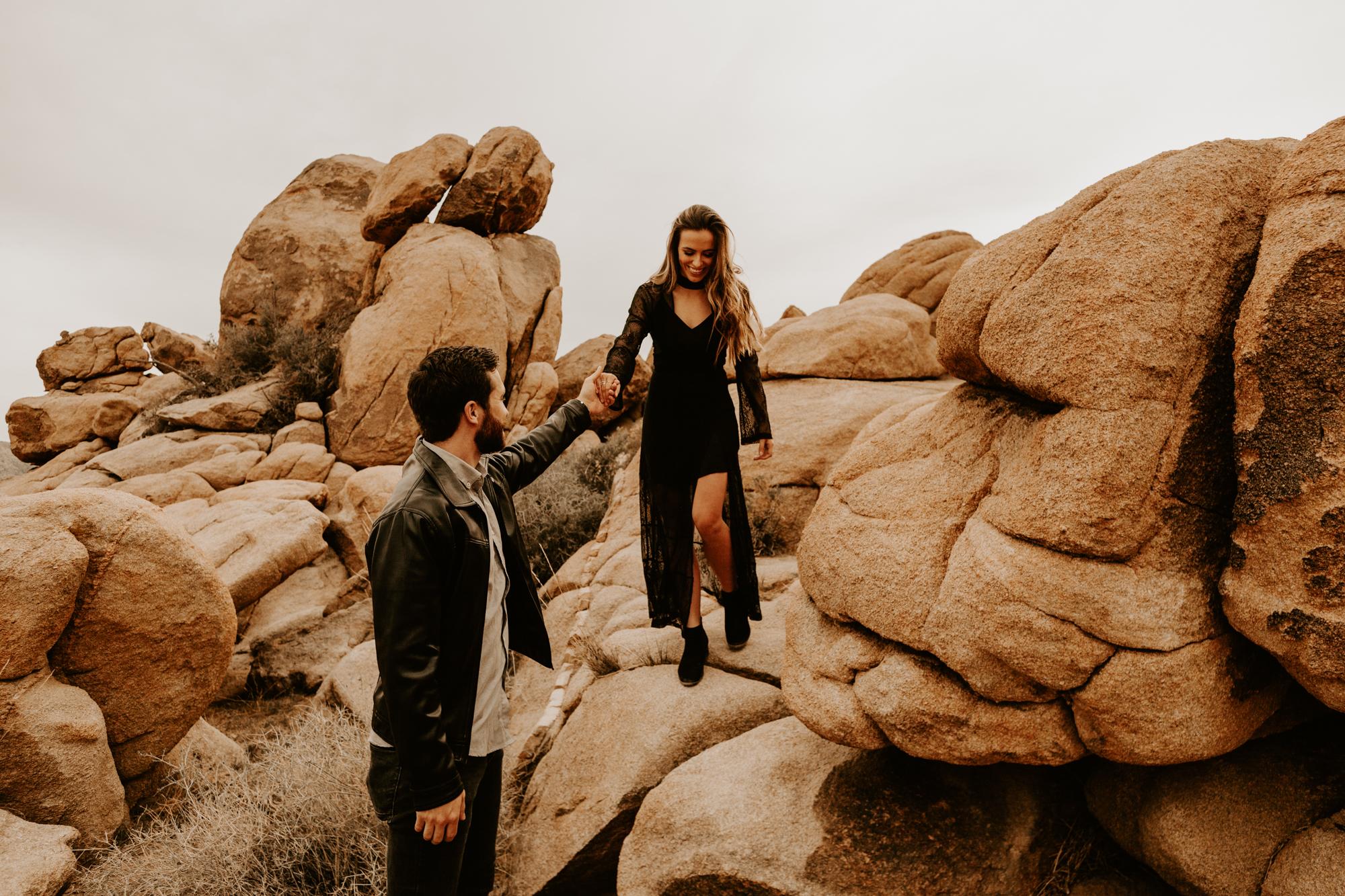 Palm Springs And Joshua Tree Engagement Shoot Tida Svy
