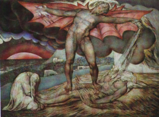 William Blake Satan Smiting Job