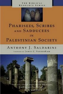Pharisees, Scribes and Sadducees in Palestinian Society book giveaway.
