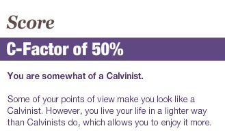How Calvinist are you quiz.