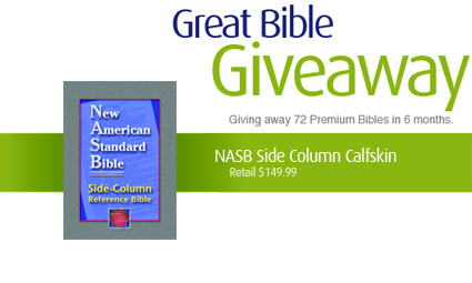 Logos Great Bible Giveaway.