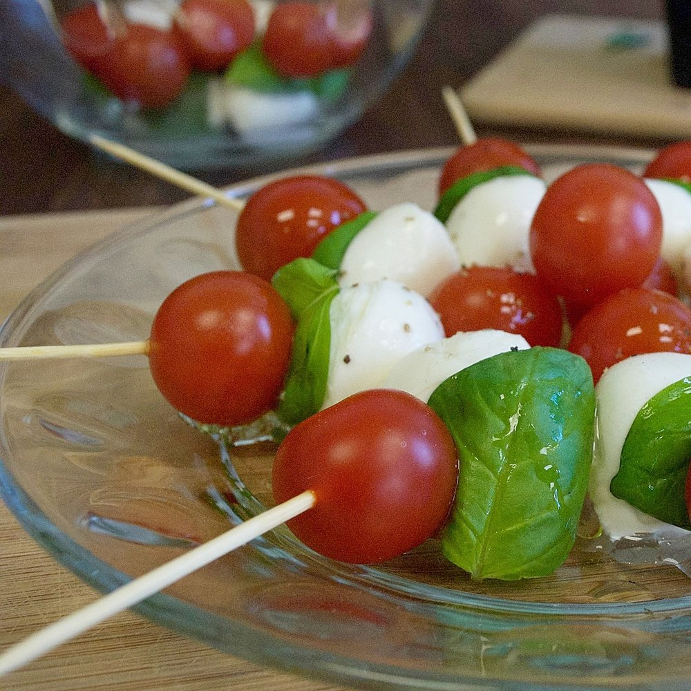 Caprese Apps on a Toothpick