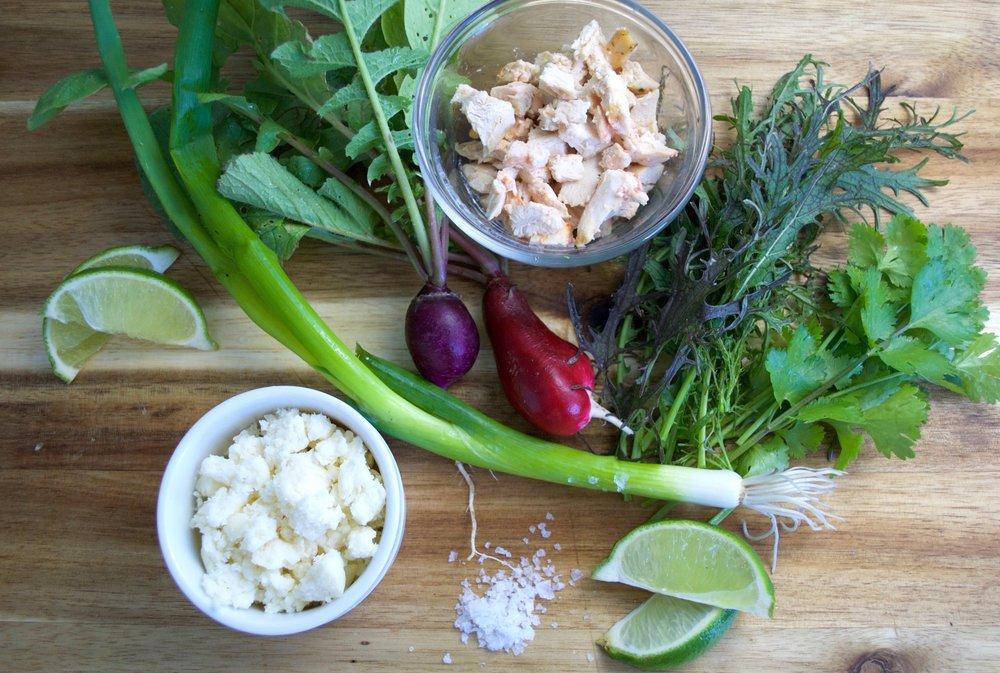 Rainbow Tacos Ingredients