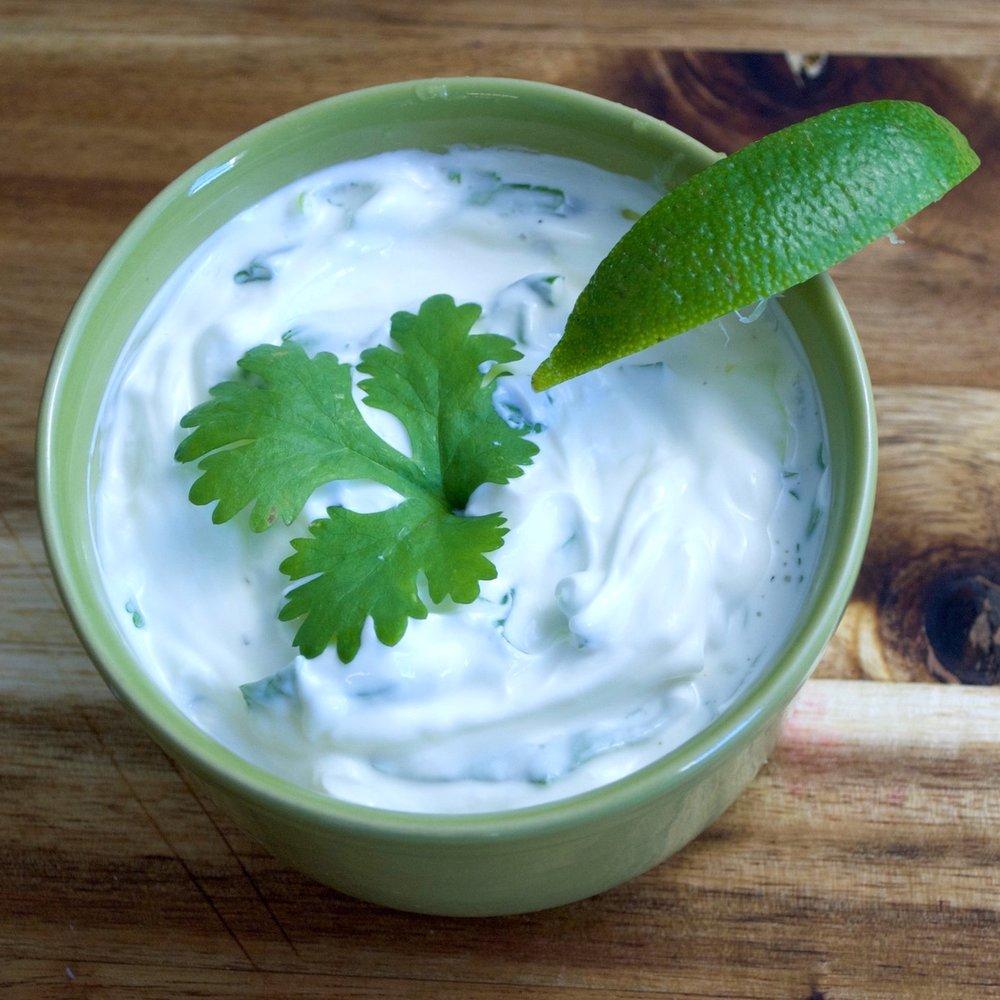 Fresh Cilantro Crema Recipe