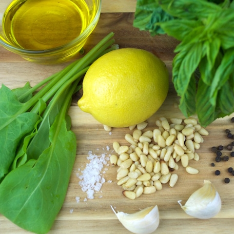 Basil Sorrel Pesto Recipe