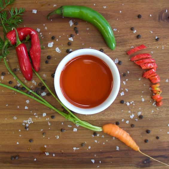 Cayenne-Carrot Hot Sauce