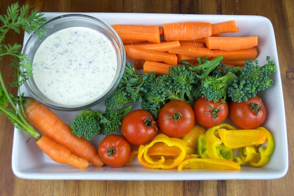 Homegrown veggies, meet homegrown ranch dressing. You're welcome.