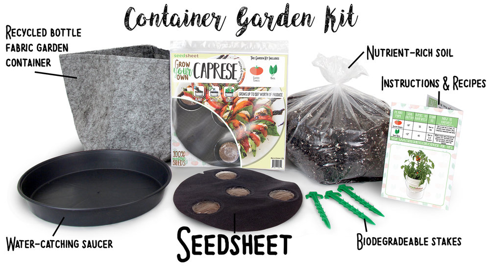 Caprese garden kit to grow your own tomatoes