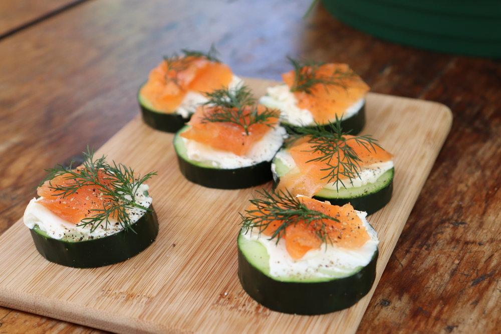 Homemade Smoked Salmon Dilly Stacks 6