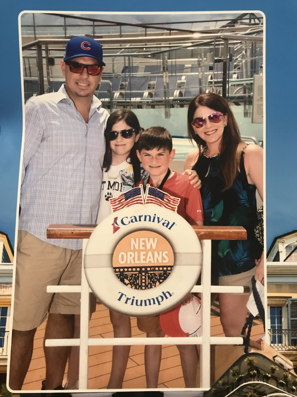 C.J. and his family on their recent cruise to Mexico.