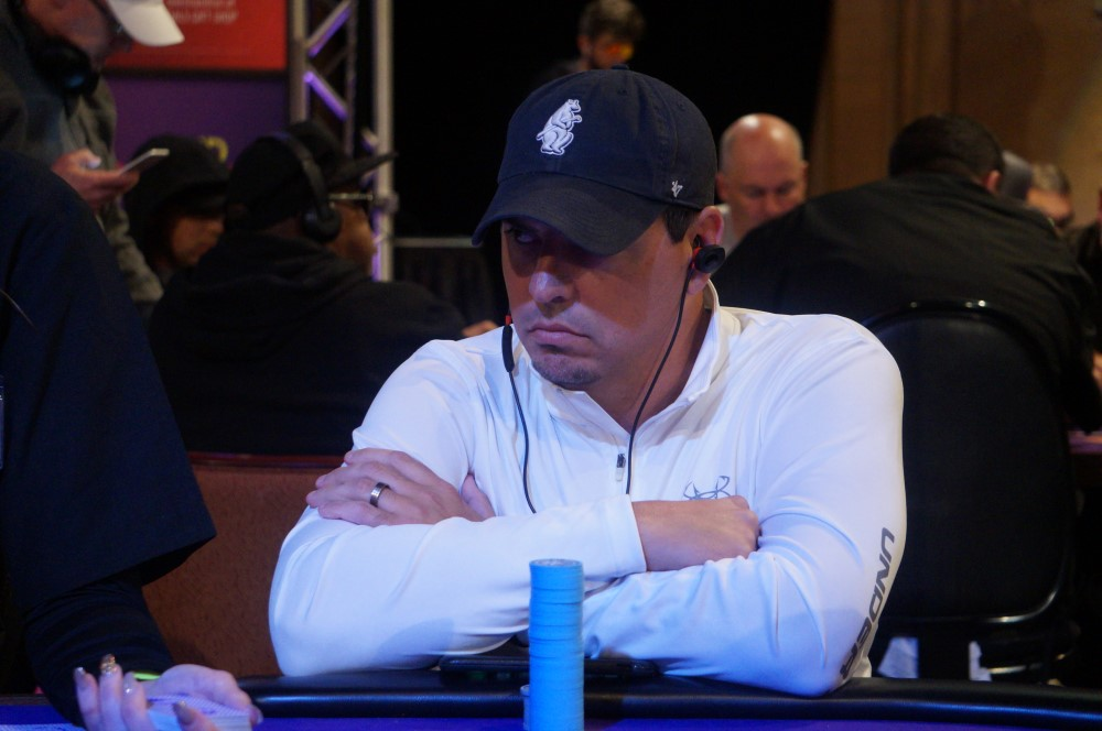 C.J. in a poker tournament in May.