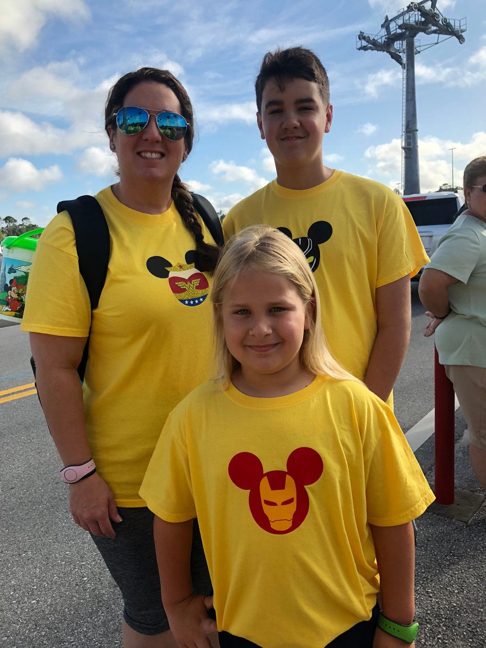 Candice and her two sons at Disney.