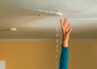 ceiling leak