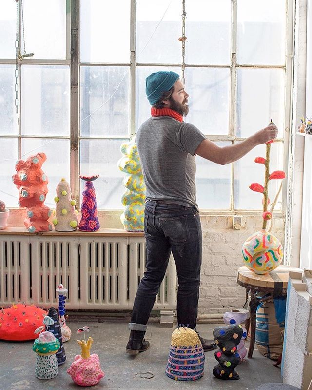 A&E Founder Shawn Connell had the joy of taking photos for @levismadeandcrafted of two artists Terri Chiao and Adam Frezza who showed at @artandmethod last year! #MadeandCrafted #Portraiture