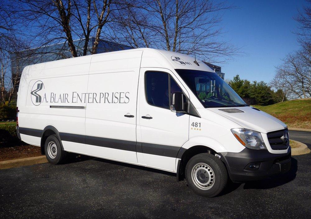 A. Blair Cargo Van Local Shipping