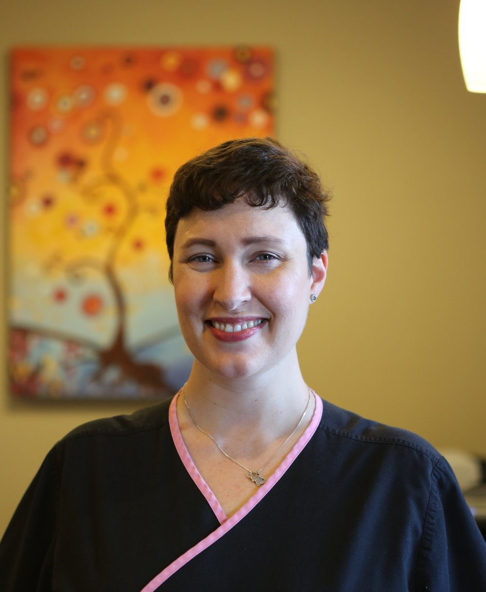 Elizabeth - Liz graduated from Baylor College of Dentistry in 2009 with a Bachelors of Science in Dental Hygiene. She prides herself on making patients feel comfortable and providing gentle and thorough care.Liz enjoys dancing with her husband, playing with her three dogs and spending time with her son.
