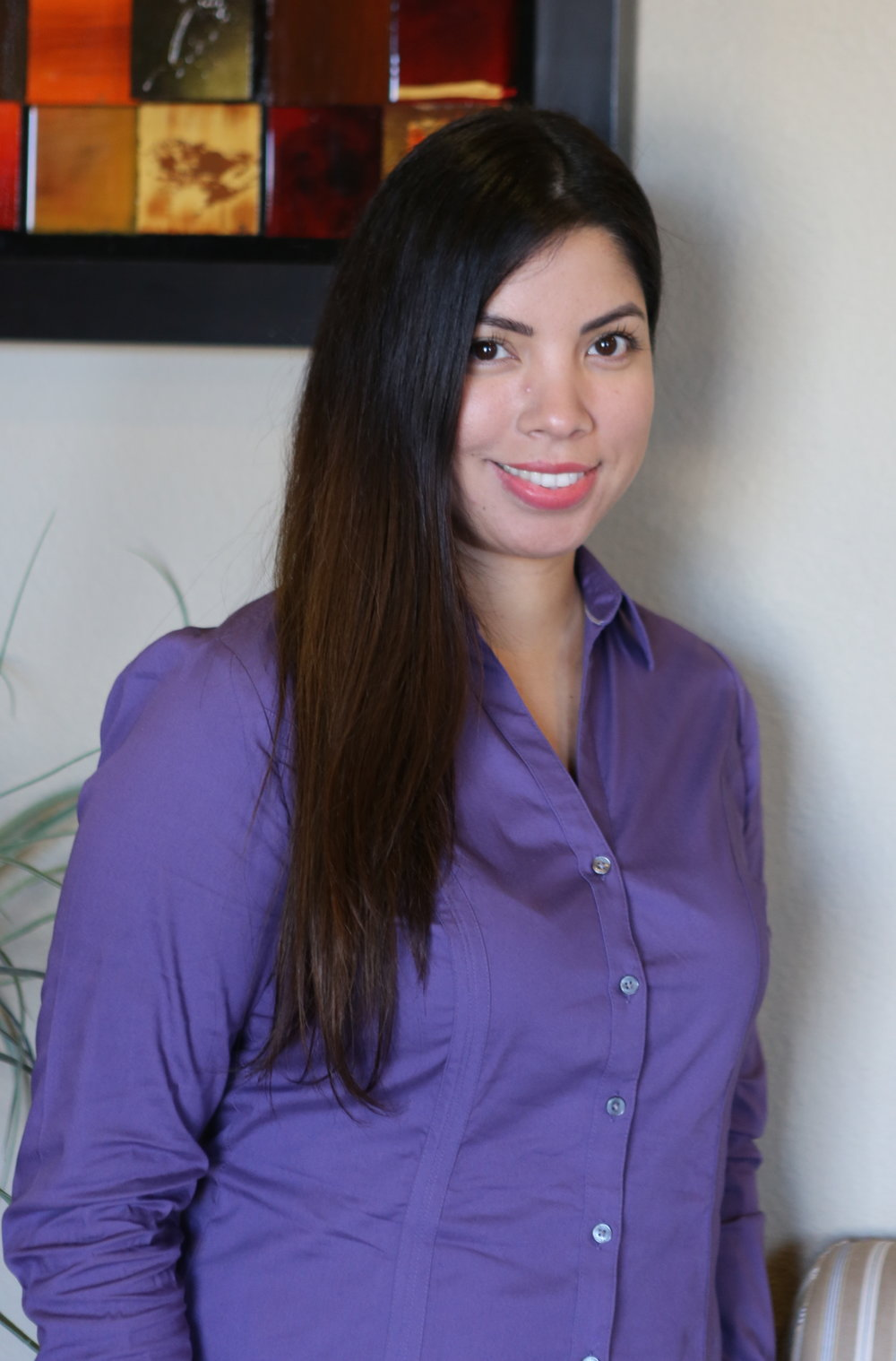 Violet - Violet is committed to making patient satisfaction her top priority. As our office manager, Violet has over a decade of experience in business administration.She currently resides in Grand Prairie and enjoys baking and spending her free time with family.