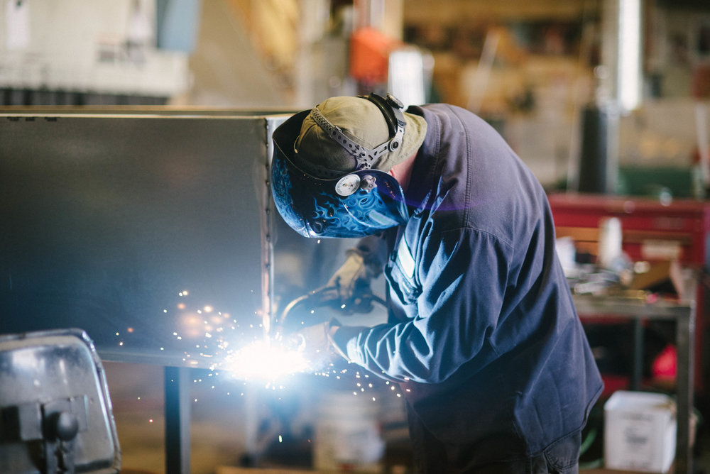 Our welders create top of the line custom sheet metal products.