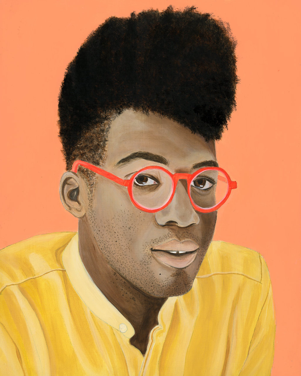 African American man with pink glasses - Curious Darling - J Danielle Wehunt