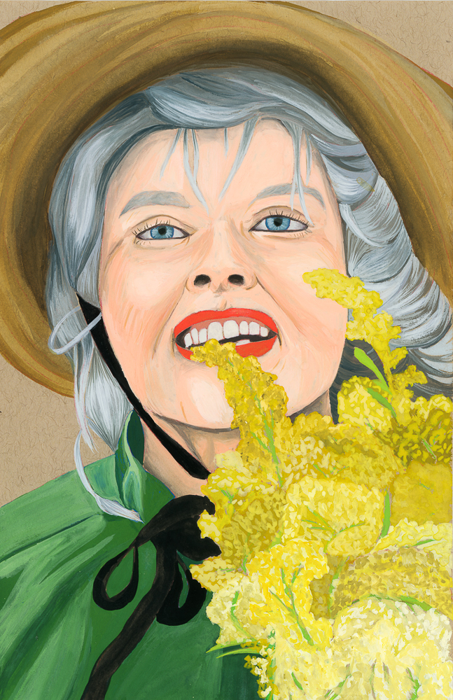 Gouache Painting of Katherine Hepburn - Curious Darling - J Danielle Wehunt
