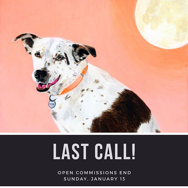 This coming Sunday is the last day to book a painting commission! 🎉 If you're unable to make it for this round, make sure you sign up for my mailing list to be informed ahead of my next open commission announcement on social media. Link in bio. ❤️ Thank y'all!