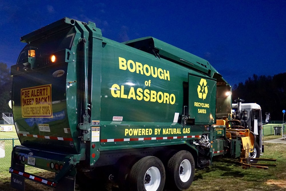 glassboro highway department trash truck