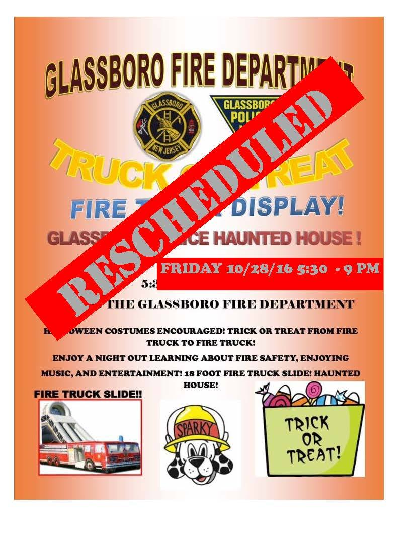 glassboro fire and police trunk or treat
