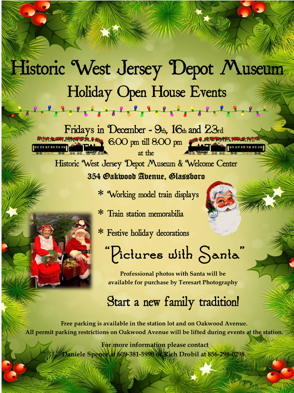 Historic West Jersey Depot Museum Holiday Open House Event