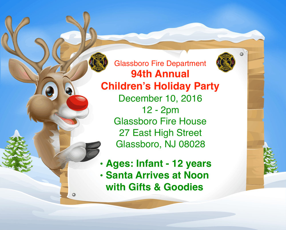 glassboro fire department 94th annual children's holiday PArty