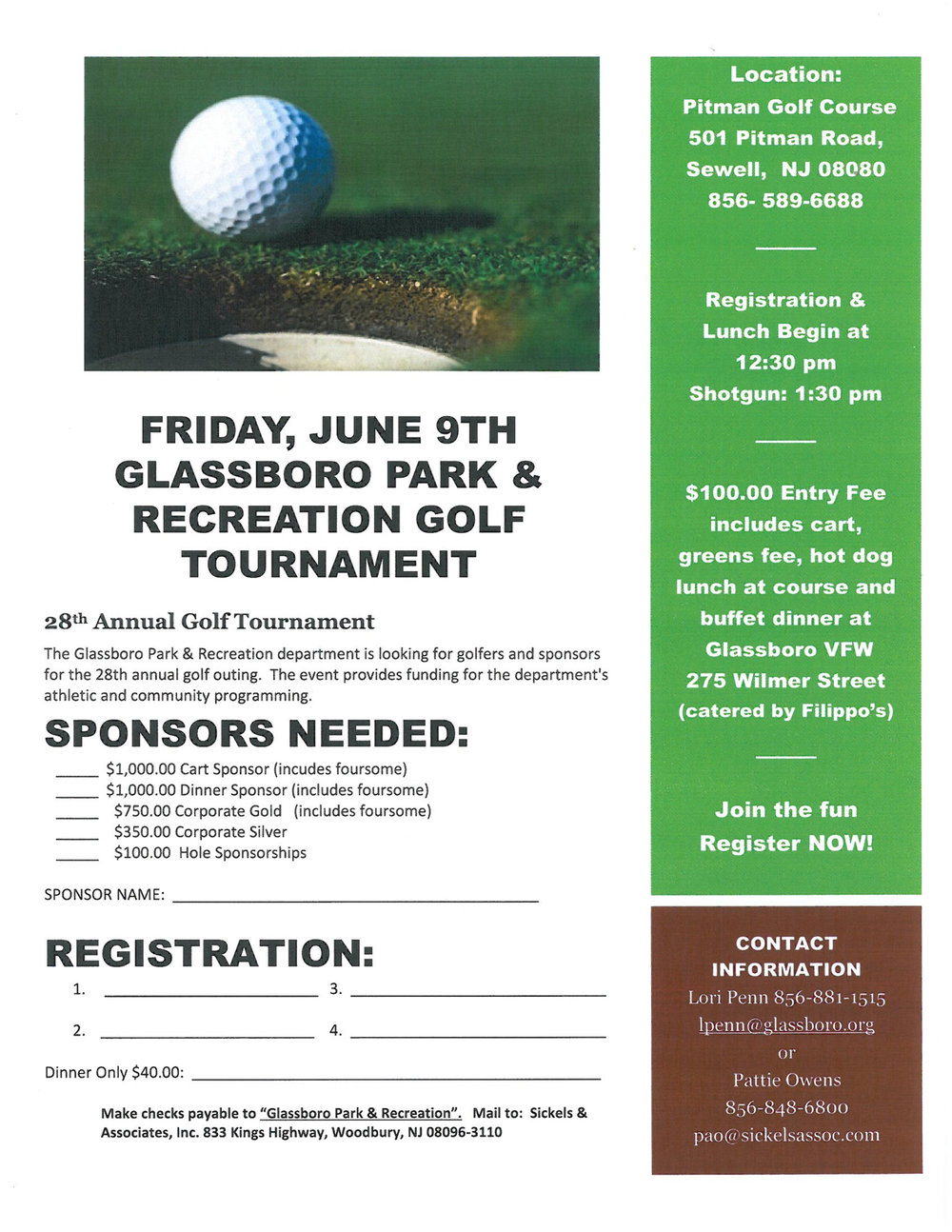 glassboro golf outing