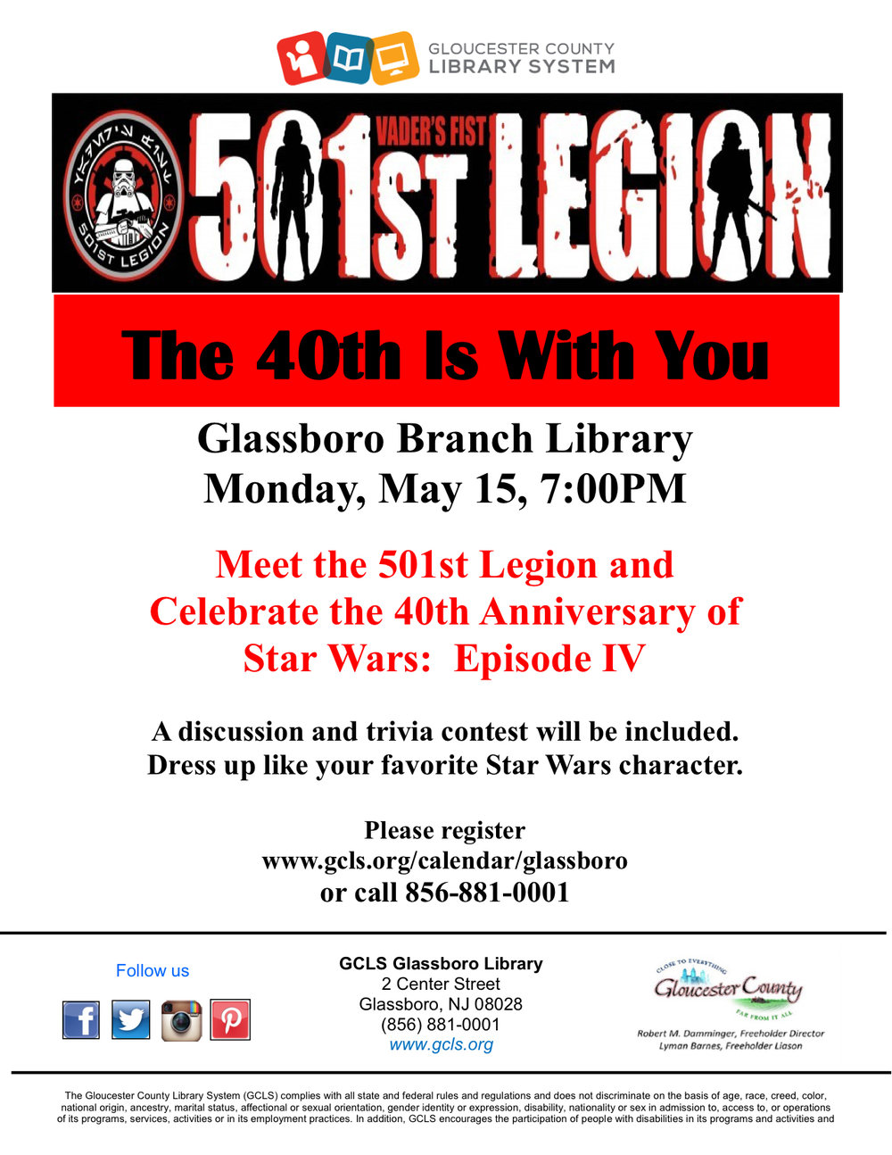 glassboro library star wars
