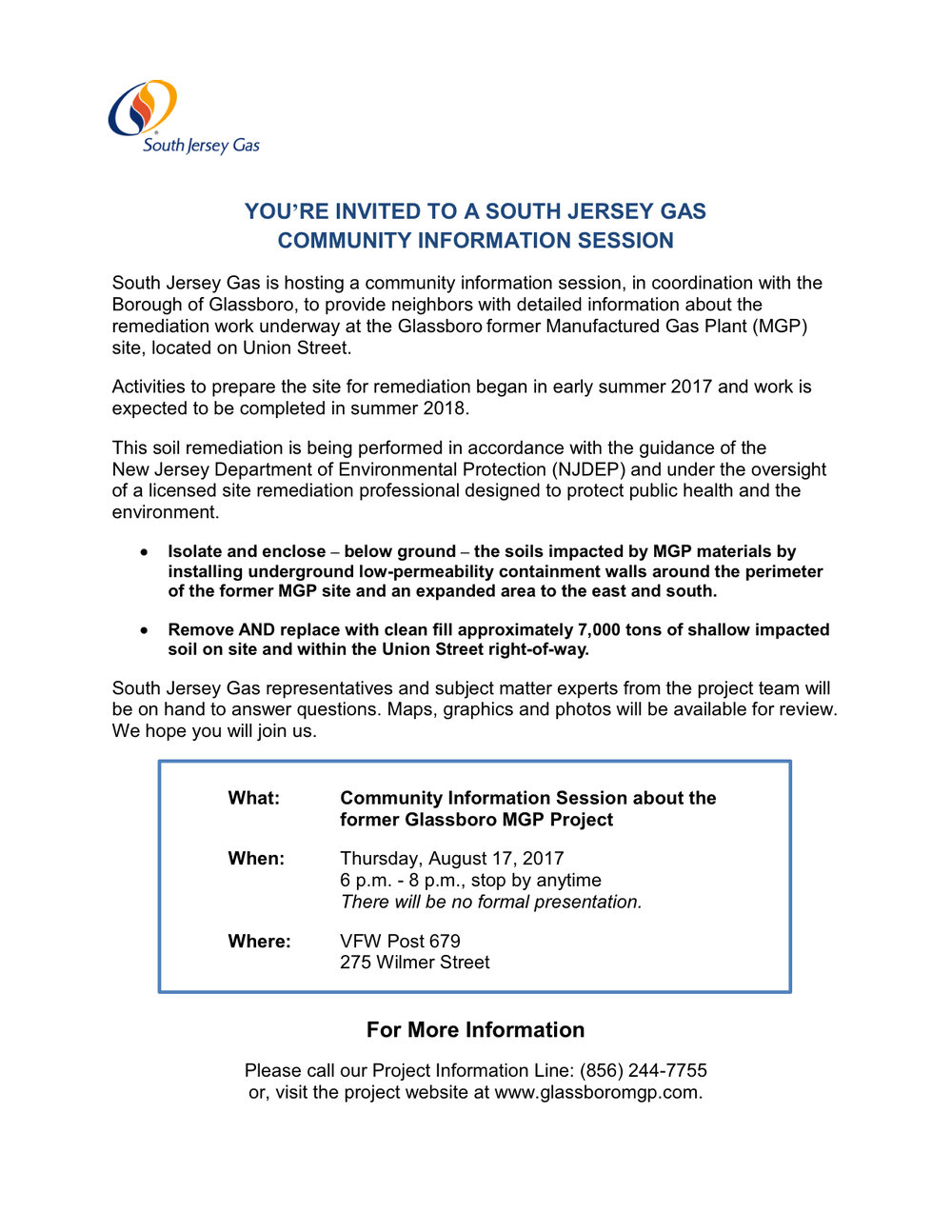 Glassboro south jersey gas information session