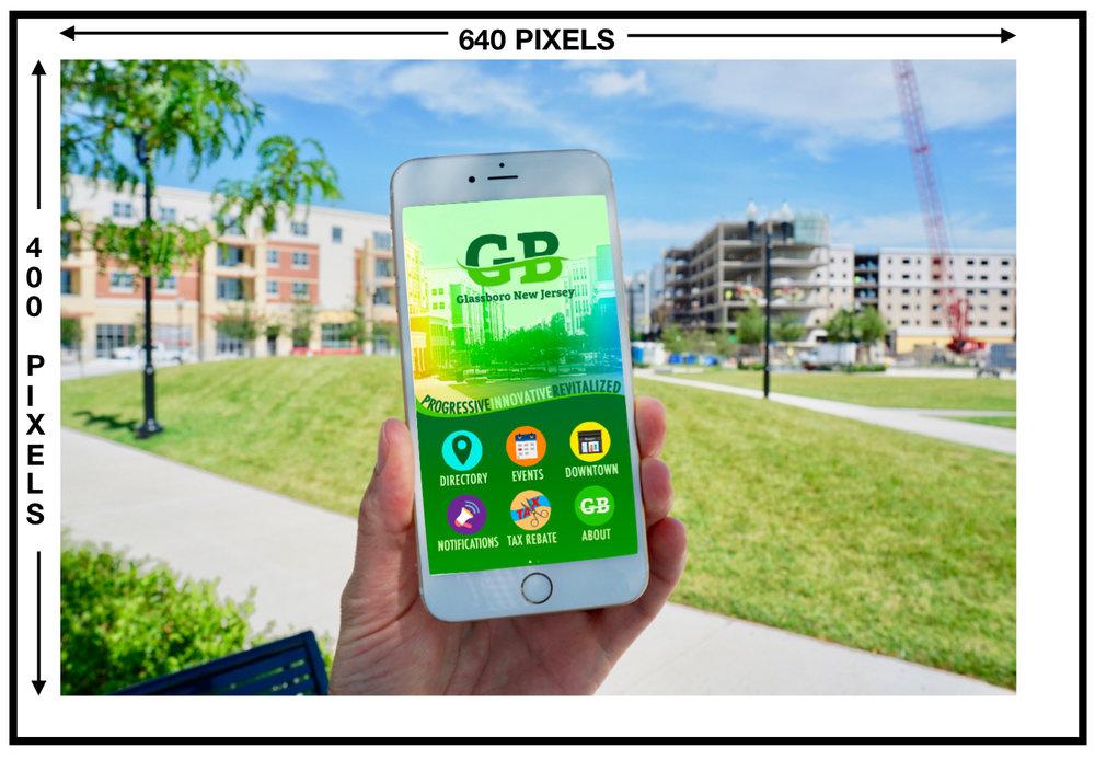 glassboro app ad size