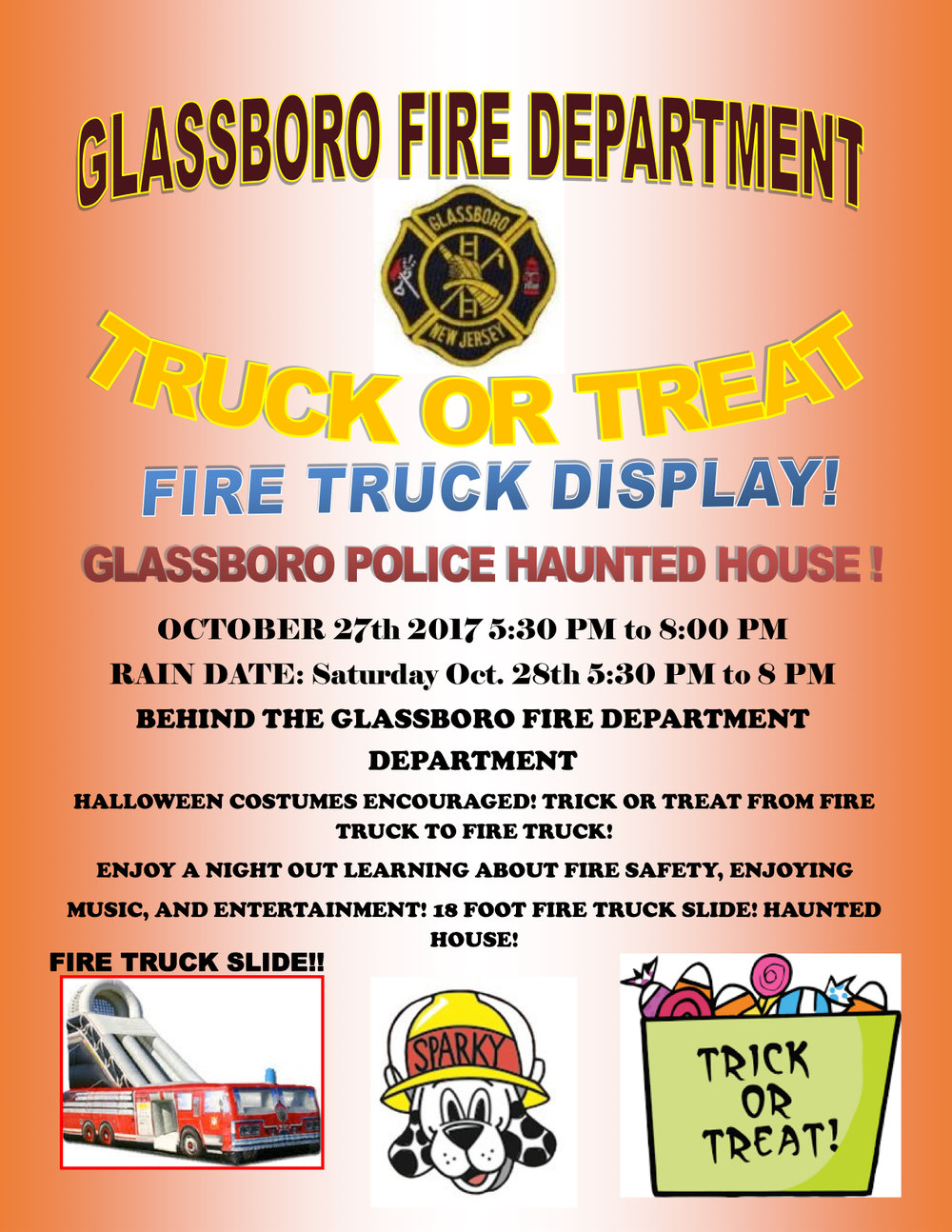 Glassboro FD and PD Truck-or-Treat and Haunted House
