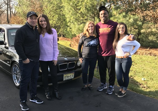 Guidance counselor for Eagles' Corey Clement keeps promise to give him her BMW