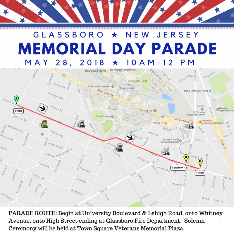GLASSBORO memorial day parade rout and road closoure.png